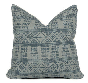 Peter Dunham 'Addis' Designer Pillow Cover | Blue Mist | NoPDABM