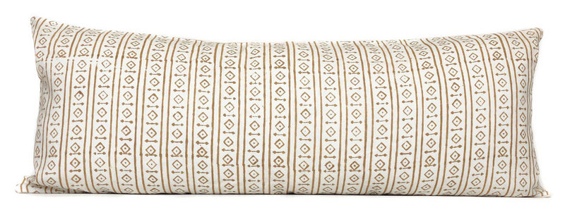 Raga Mustard Pillow Cover | Mustard and White | Designer Pillow | No4052