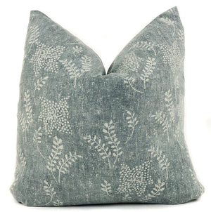 Vintage Floral Pillow Cover | Dark Sage Green | Designer Pillow