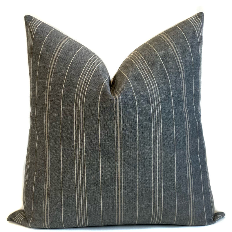 Sutton Stripe Designer Pillow Cover | Pumice