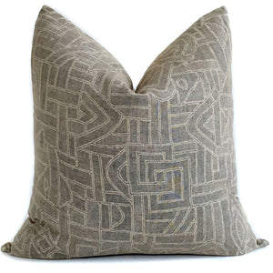 Tye Designer Pillow Cover in Basalt by One Affirmation