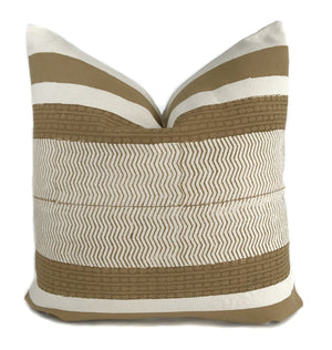 Mustard and Cream Pillow Cover | No4009