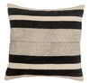 Black and Cream Stripe Pillow Cover | No 4010