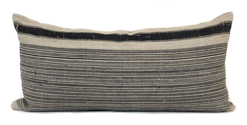 Vintage Hmong Stripe Pillow Cover | Modern Farmhouse Pillow | No276