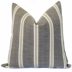 Paddington Stripe Designer Pillow | Pumice