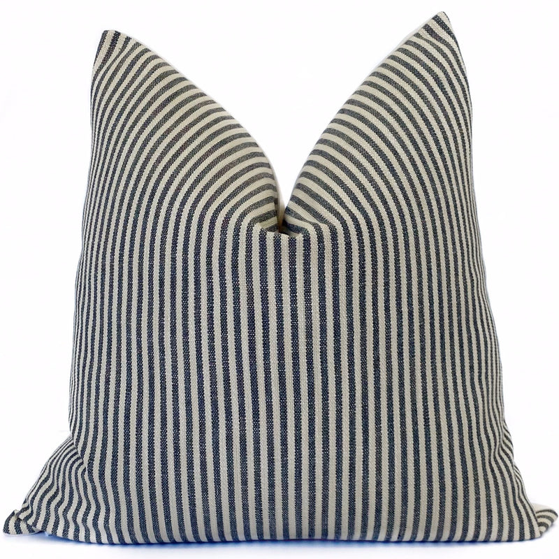 Tatton Stripe Designer Pillow | Pumice