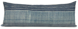 Chiang Mai Navy Blue Stripe Batik Pillow Cover | No6009