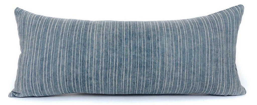 Vintage Blue and White Stripe Pillow Cover | Designer Pillow | No6003