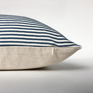 Blue and White Ticking Stripe Pillow Cover | No4102