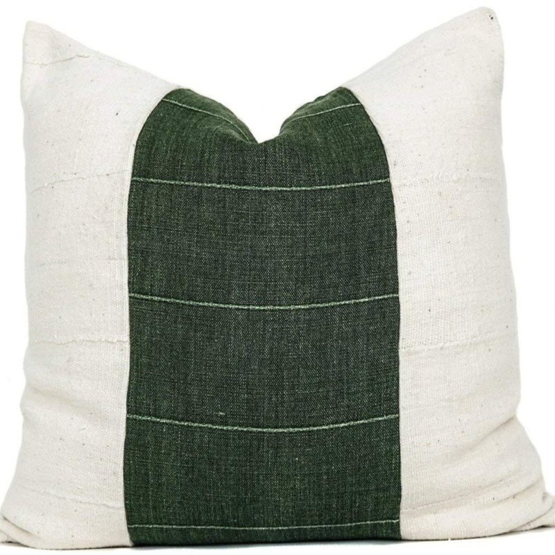 Vintage Green + Mudcloth Pillow Cover | Designer Pillow | No4051x