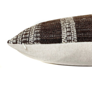 Indian Wool Pillow Cover | Brown + Cream | NoIWB