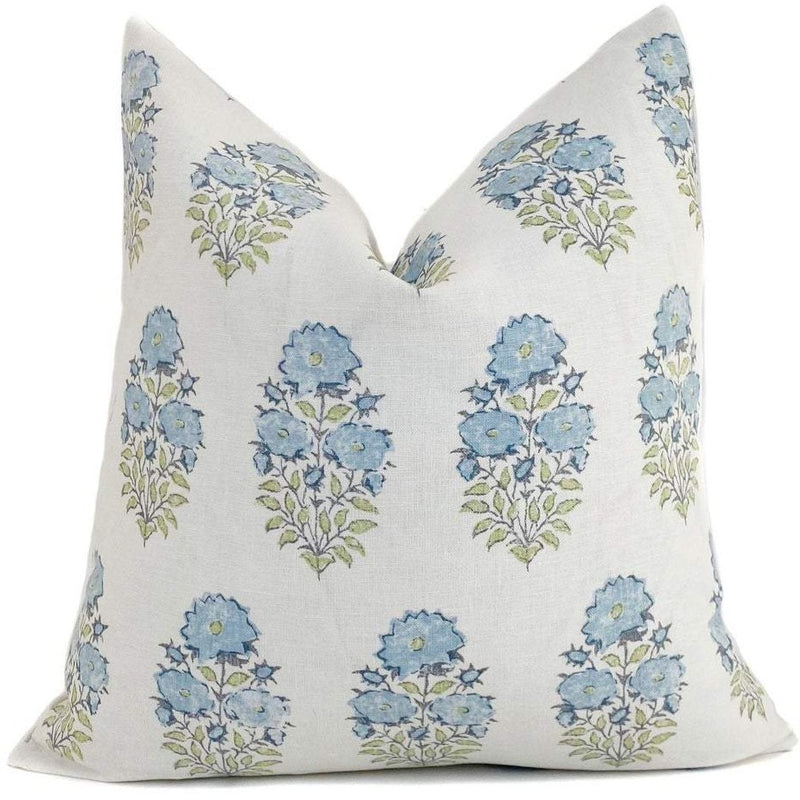 Mughal Flower Designer Pillow Cover | Monsoon