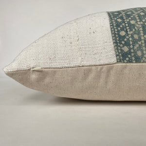 Green Batik + Mudcloth Designer Pillow Cover | NoRTGBM