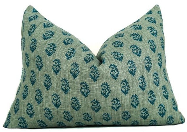 Rajmata | Blue/Blue | Designer Pillow Cover | No16