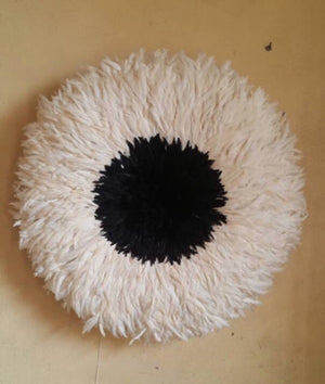 African Juju Hat | Cream + Black