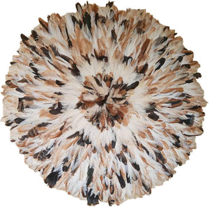African Juju Hat | Cream, Black, Beige