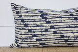 Hmong Batik Block Print Pillow Cover | 12x24 | No85