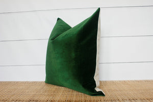 Green Velvet Pillow | 18x18 | No4002