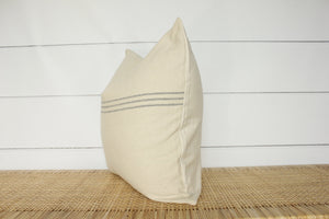 Grain Sack Stripe Pillow Cover | Farmhouse Modern | No225