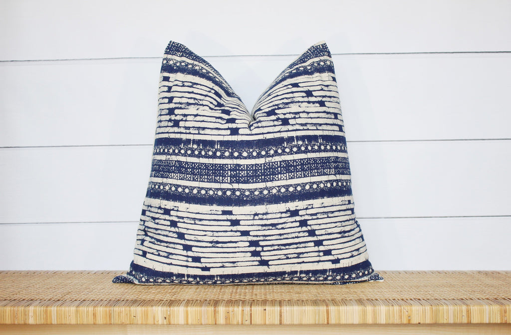Hmong Block Print Pillow Cover | 18x18 | No1132