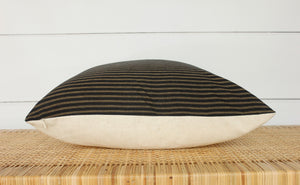 Black + Tan Stripe Pillow Cover | No850
