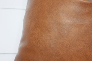 Faux Leather Pillow Cover | Cognac | No1118