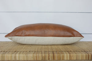 Faux Leather Pillow Cover | 14x20 | No11871