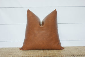 Faux Leather Pillow Cover | 18x18 | No1118