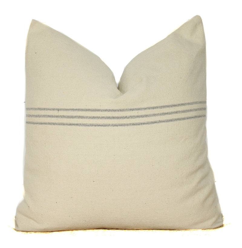 Grain Sack Stripe Pillow Cover | Farmhouse Modern | 22x22 | No225