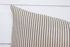 Striped Ticking Lumbar Pillow Cover | 12x24 | No8029