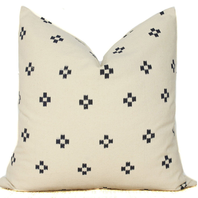 Cotton Block Print Pillow Cover | 20x20 | No214