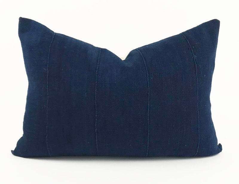 African Indigo Pillow Cover | Dark Blue | Authentic | 14x20