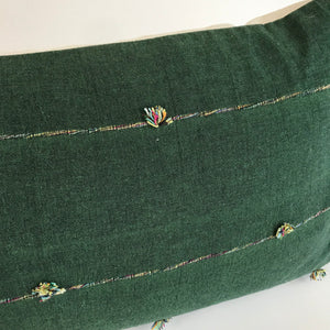 Chiang Mai Green Lumbar Pillow Cover | 14x36 | No4069