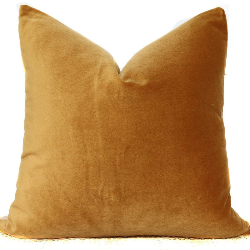 Gold Velvet Pillow | Velvet Lumbar | 22x22 | No8017xx