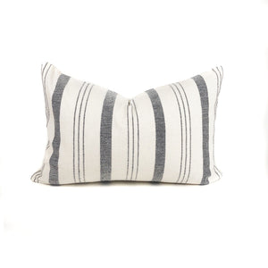 Lima Stripe Pillow Cover | Designer Pillow in Natural + Black