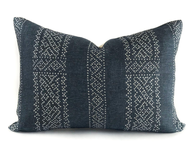 Miguel Designer Pillow Cover | Indigo
