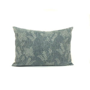 Vintage Floral Pillow Cover | Dark Sage Green | Designer Pillow | No6002