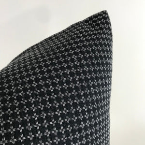 Black and White Woven Pillow Cover | No4097