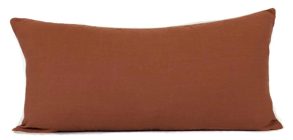 Terracotta Pillow Cover | 100% Linen | No5051