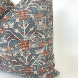 Khotan Designer Pillow Cover in Rubia | No4061