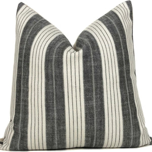 Grey and White Stripe Designer Pillow Cover | NoGS1