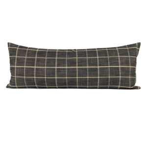 Peppercorn Windowpane Pillow Cover | No303x