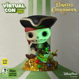 Funko Virtual Con Spring 2021: Pop! Deluxe Disney Parks: Pirates of The Caribbean - Skeleton on Gold Pile (Glow)