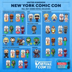 2021 NYCC shared retail exclusives for the United Kingdom