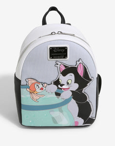 Disney - BoxLunch Exclusive Loungefly Pinocchio Figaro Mini Backpack