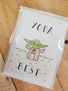 That Freckle, Yoda Best 02 Hand Drawn Card.