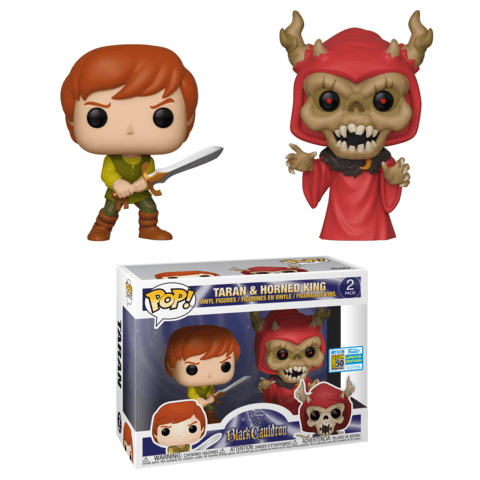 Black Cauldron - Taran, HorndKing Pop! 2pk SDCC 2019 RS