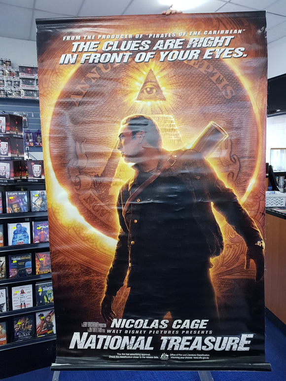 National Treasure Vinyl Banner