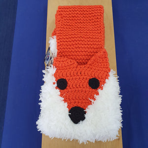 Red Fox Crocheted Scarf