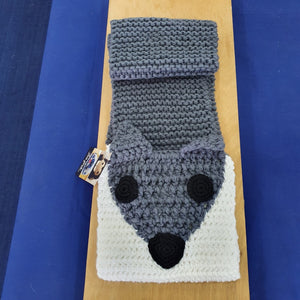 Grey Fox Crocheted Scarf